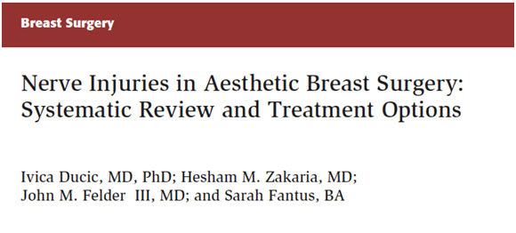 Nerve Injuries in Aesthetic Breast Surgery