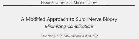 A Modified Approach to Sural Nerve Biopsy