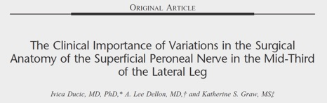 The clinical Importance of Variations in the Surgical Anatomy