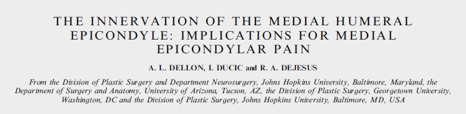 Implications for Medial Epicondylar Pain