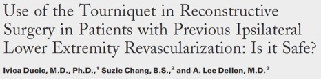Use of Tourniquet in Reconstructive Surgery