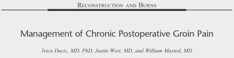 Management of Chronic Postoperative Groin Pain