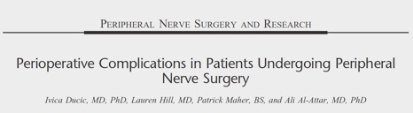 Perioperative Complications in patients